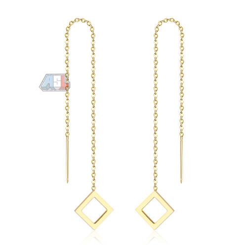Foto Produk Anting Parallelogram Gold Plated 18k | Anting Wanita Lapis Emas dari ASL SHOP ID