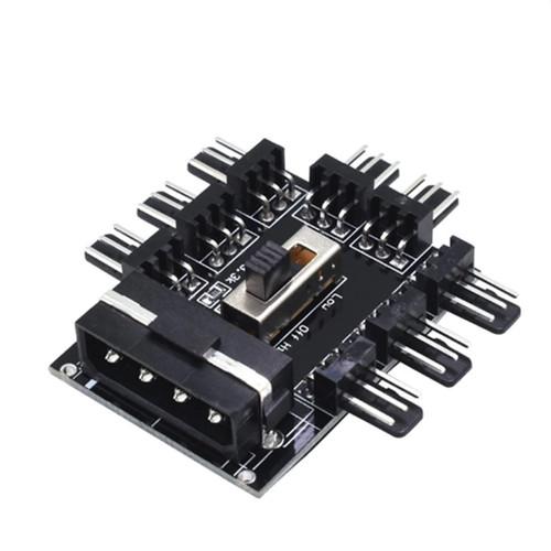 Foto Produk 8 Port Fan Hub Splitter 3 Pin Fan - MOLEX dari teknoza