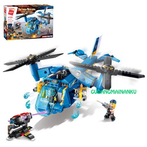 Foto Produk Bricks Blocks Qman 2709 Jaeger Fighter Helicopter Double Rotor dari Gudangmainanku