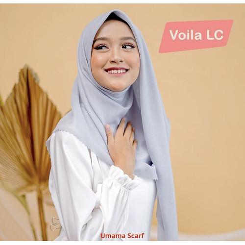 Foto Produk Hijab Segiempat Voila Lasercut Umama Label Besi Jilbab Segiempat - Dark Grey dari KUBA PROJECT