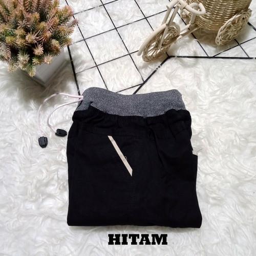 Foto Produk Celana pendek anak laki laki chinos rib 2 3 4 5 6 7 8 9 10 11 12 tahun - Hitam, S; 2-3th dari Mickonova Store
