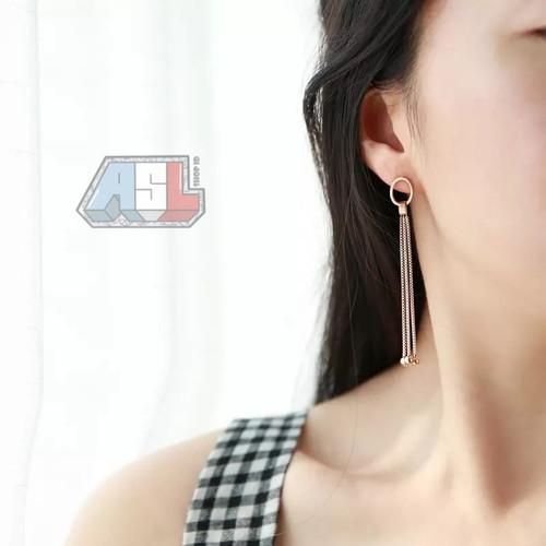 Foto Produk Anting Triple Pendulum Gold Plated 18k | Anting Wanita Lapis Emas dari ASL SHOP ID