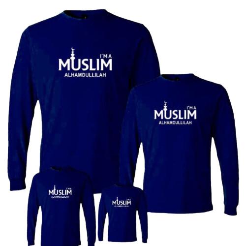 Foto Produk Kaos couple keluarga motif islami/ tshirt lengan panjang muslim untuk - ANAK, S dari distro manda