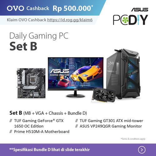Foto Produk PBA ASUS Powered By ASUS - Daily Gaming PC set package ABC GTX 1650 OC - set B + D dari YOUNGS COMPUTER