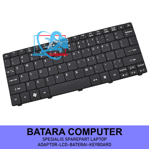 Foto Produk Keyboard Acer Aspire One D255 D255E D257 D260 D270 521 522 532 533 Ori - Hitam dari Batara Computer