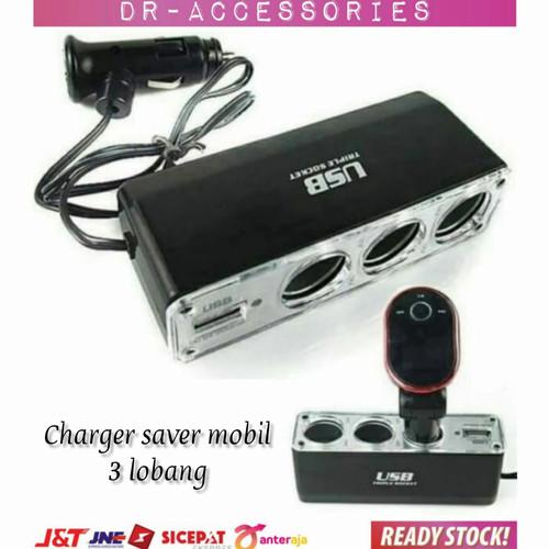 Foto Produk Charger Saver Mobil 3 Lobang + 1 USB dari DR-Acc