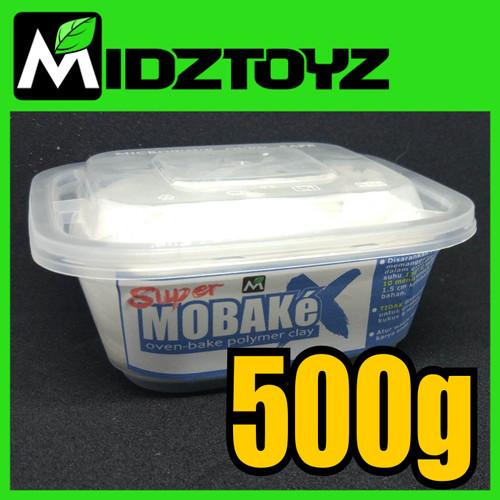 Foto Produk Super Mobake X - oven bake Polymer Clay - SMeX PUTIH 500g dari Midztoyz