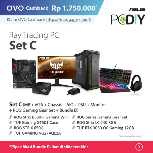 Foto Produk PBA Powered By ASUS - Ray Tracing PC set package GeForce RTX 3060 OC - set C + D dari YOUNGS COMPUTER