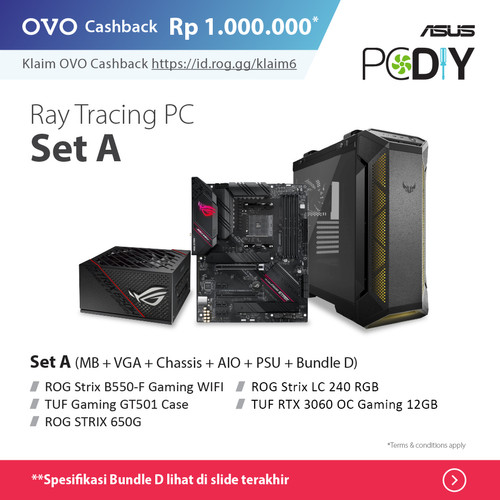 Foto Produk PBA Powered By ASUS - Ray Tracing PC set package GeForce RTX 3060 OC - set A + D dari YOUNGS COMPUTER