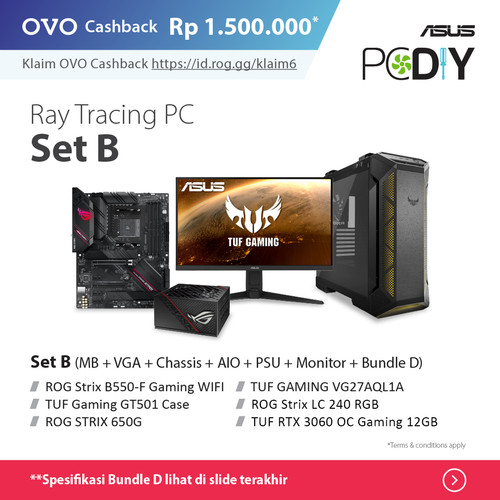 Foto Produk PBA Powered By ASUS - Ray Tracing PC set package GeForce RTX 3060 OC - set B + D dari YOUNGS COMPUTER