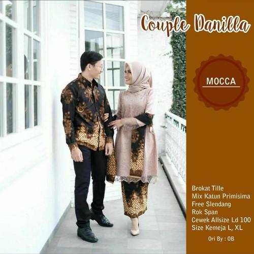 Foto Produk Batik Couple Terbaru Baju Kebaya Brokat Modern Kemeja Pria Terbaru - Mocca dari MELYSA BATIK