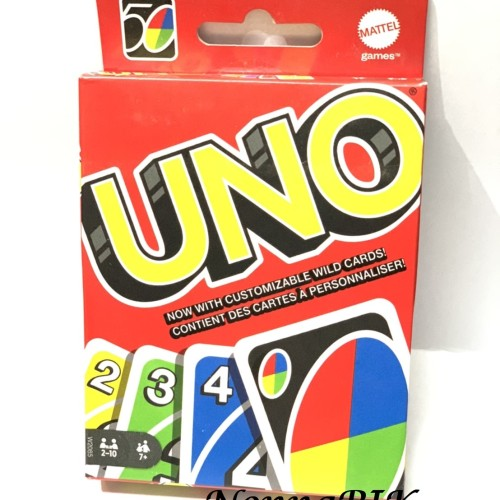 Foto Produk ORIGINAL UNO GET WILD 4 DELUXE - 4 CUSTOM WILD CARD & SWAP HANDS dari NonnaPIK