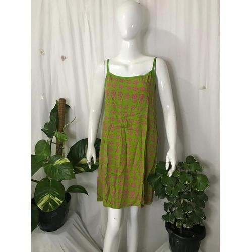 Foto Produk Baju Tidur Dress Tali Satu Bahan Cap dari Batik mbak siti