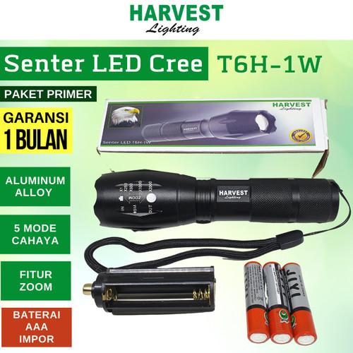 Foto Produk LAMPU SENTER SWAT LED T6 FLASHLIGHT T6H-1 PAKET PRIMER - AAA Impor dari Tiga Anugerah Lestari