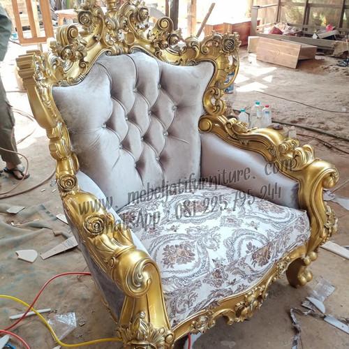 Foto Produk Kursi Sofa Tamu Mewah Ukir Jati Jepara Original dari Mebel Jati Furniture Jepara