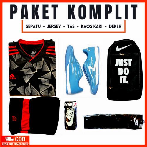 Foto Produk Sepatu futsal lightspedd biru putih komplit free jersey - lg hitam5, 43 dari phantom shoes 313