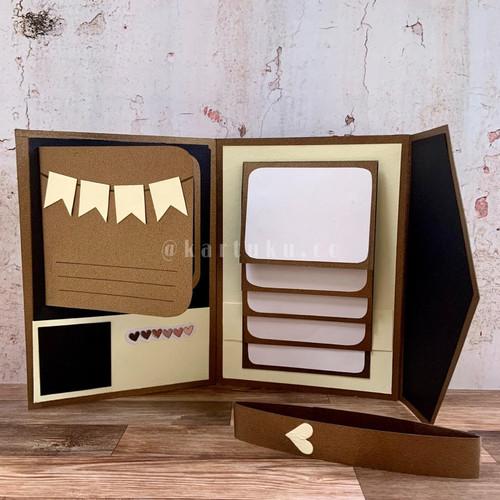 """Foto Produk Mini Scrapbook/Album """"JOYSY"""" [Greeting Card] / Kartu Ucapan / DIY - Cokelat dari KARTUKU.CO"""