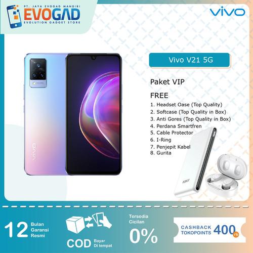 "Foto Produk Vivo V21 5G 44MP OIS Selfie Camera, 4000 mAh Battery, 6.44"" Display - Sunset Dazzle dari Evogad Official"