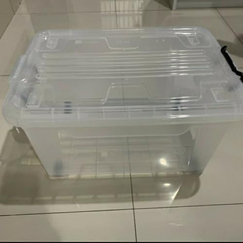 Foto Produk Storage Box Ezy CB 45 Liter Roda Bening Tebal Kotak Container Perkakas dari RajaPerabot88