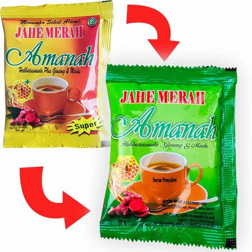 Foto Produk Jahe Merah Amanah AMH 1 renceng isi 12 sachet - Hijau dari juanda depok store
