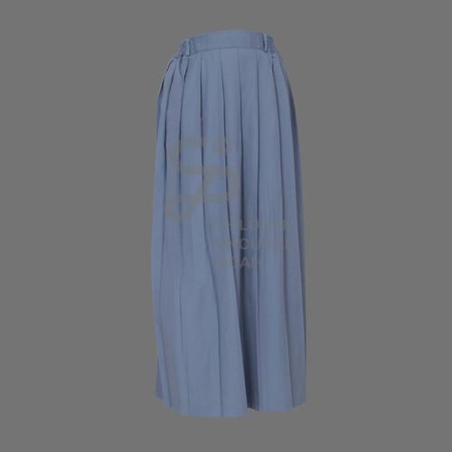 Foto Produk Rok Rempel Abu SMA Panjang Bahan Famatex size S -XXL ( seragam Sekolah - size S dari Children Pincuran Indah