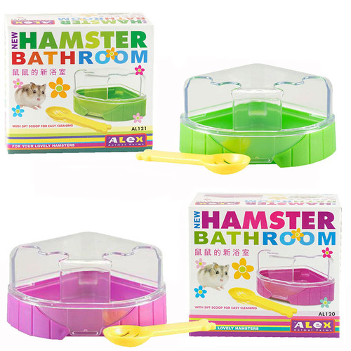 Foto Produk ALEX AL120 Purple 121 Green Hamster Bathroom Toilet Corner Wadah Mandi - Ungu dari Hime petshop