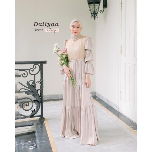 Foto Produk DALIYA DRESS /MUSLIM DRESS /DRESS WANITA /DRESS PESTA - Rosegold, XS dari Gamaleea