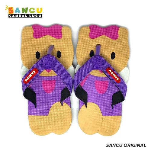 Foto Produk Sancu Sandal Anak Lucu Bergambar Kitty Ungu - 21 dari Sancu Official