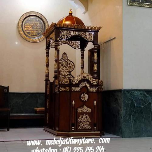 Foto Produk Mimbar Masjid Ukir Jati Jepara dari Mebel Jati Furniture Jepara