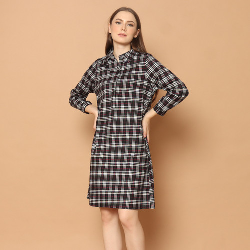 Foto Produk Cammomile dress katun wanita stripe 1904078 - BlackV1, S dari Cammomile FashionLine
