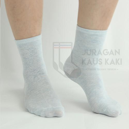 Foto Produk Kaos Kaki Wanita Panjang Polos Long Socks Katun Impor Grosir Termurah - Biru Muda dari Juragan kaus kaki