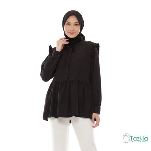 Foto Produk Atasan Muslim Wanita   Casia Blouse Hitam   M L XL   Tazkia Hijab - M dari Tazkia Hijab Store