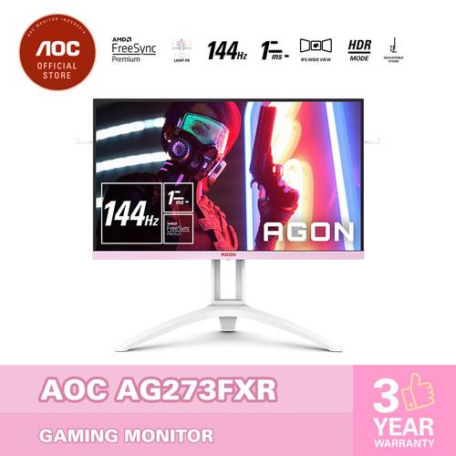 "Foto Produk AOC AG273FXR Pink Power FreeSync Gaming Monitor 144hz/1ms/HDR/IPS/27"" dari AOC Official Store"
