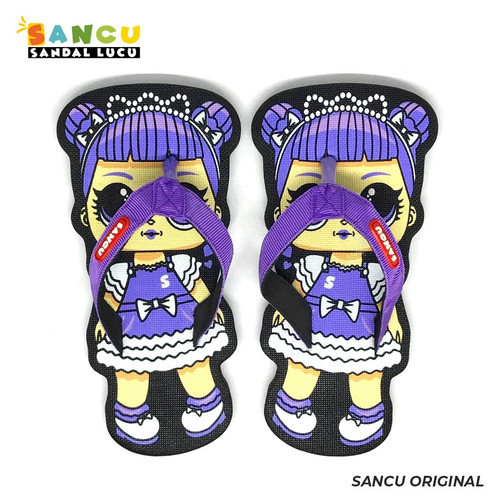 Foto Produk Sancu Sandal Anak Lucu Bergambar Baby Girl Ungu - 21 dari Sancu Official
