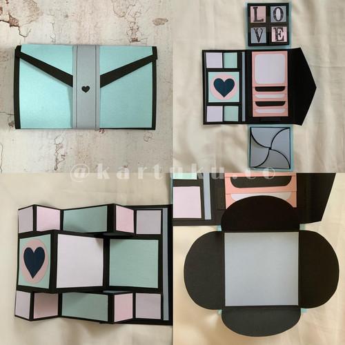 """Foto Produk Mini Scrapbook/Album """"FANCY"""" [Greeting Card] / Kartu Ucapan / DIY - Biru Muda dari KARTUKU.CO"""