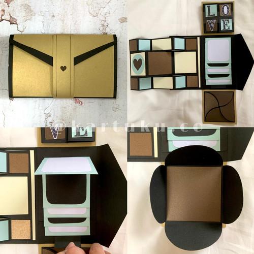 """Foto Produk Mini Scrapbook/Album """"FANCY"""" [Greeting Card] / Kartu Ucapan - Cokelat dari KARTUKU.CO"""