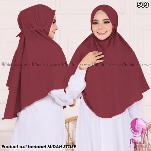Foto Produk jilbab bergo maryam - maroon dari hijab midah official