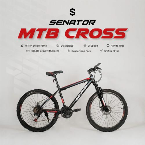 Foto Produk Sepeda Gunung MTB Senator Cross - Hitam dari yugowes