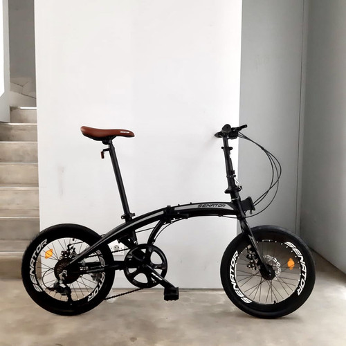 Foto Produk Sepeda Lipat Alloy Senator Folding Bike - Hitam dari Two Wheels