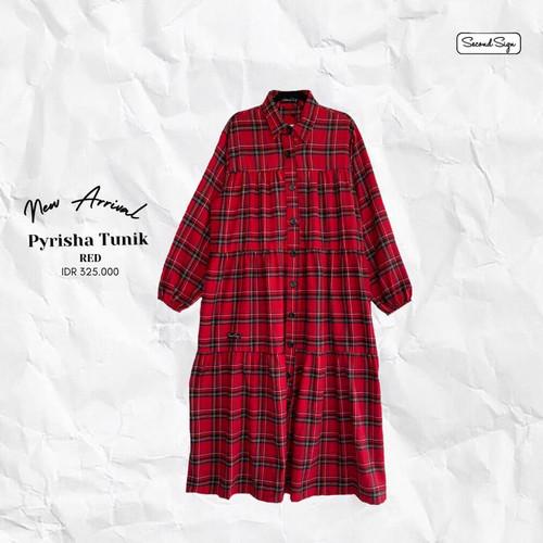 Foto Produk Atasan Casual Wanita Second Sign Pyrisha Tunik Best Seller Original - Red dari Butik Sasmaya