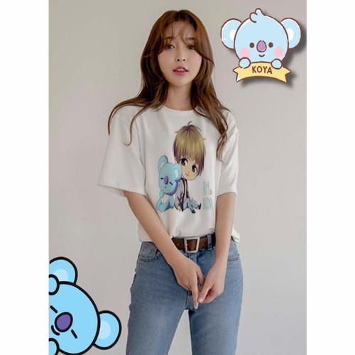 Foto Produk Baju Kaos Personel Karakter BTS ARMY Wanita Remaja Korea Style Murah - Micha Koya dari Khasanahgallery