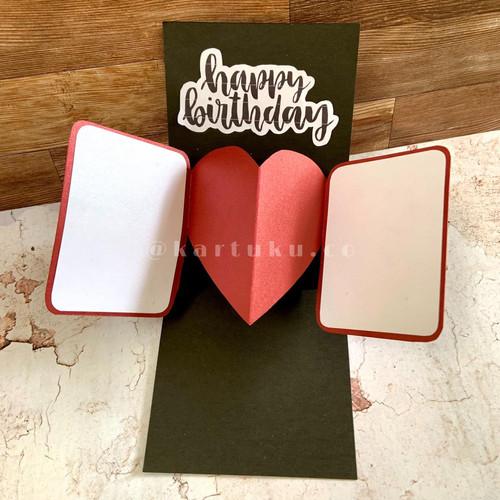 """Foto Produk Pop-Up Card """"LOLY"""" [Greeting Card] / Kartu Ucapan / DIY - Merah dari KARTUKU.CO"""