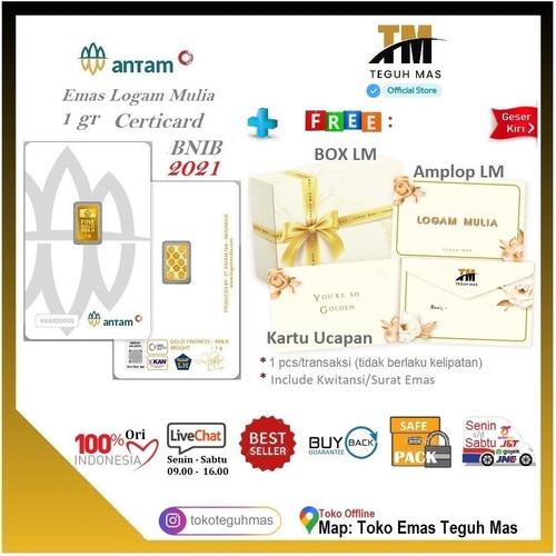 Foto Produk LOGAM MULIA ANTAM 1 gr CERTICARD LM 999.9 / 89081617 TEGUH MAS dari Toko Teguh Mas