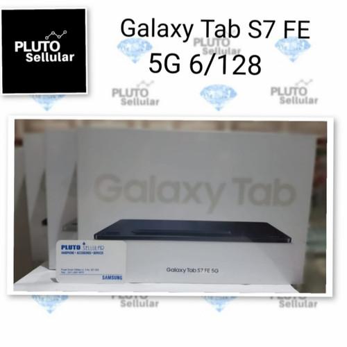 Foto Produk Samsung Galaxy Tab S7 FE 5G 6/128Gb - Grs resmi Sein - Green dari Pluto sellular