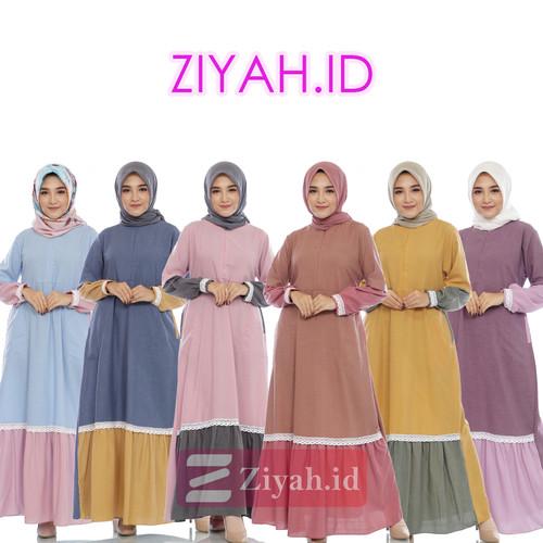 Foto Produk Ziyah.id Gamis Hamidah Casual Daily - BiruXpink, L dari Ziyahid