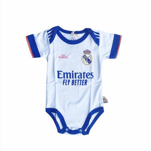 Foto Produk Baju Kaos Bola Bayi Anak Perempuan Laki Lucu I Real Madrid Home dari jerseybolabayicom