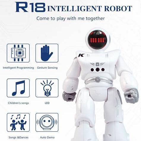 Foto Produk ROBOT JJRC R18 Sensor Pemograman Gerakan Anak Cerdas RC Mainan Kado dari Digitalworld_jr