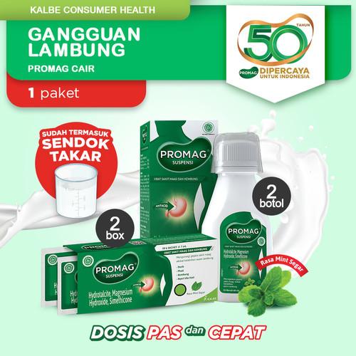 Foto Produk Promag Cair (Sirup Suspensi) Obat Maag dan Kembung (Botol & Sachet) dari Kalbe Consumer Health
