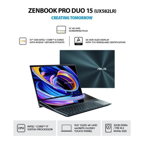Foto Produk ASUS ZenBook Pro Duo UX582LR OLED711 [Ci7 10870H|32GB|1TB|RTX 3070] dari Majujaya Computer