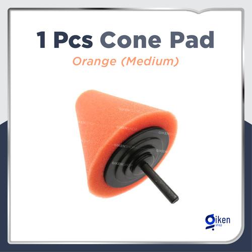 Foto Produk Cone Polishing Foam Pad Busa poles kerucut velg handle mobil - Kuning dari GIKEN